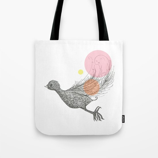 Bird with Own Feather Tote Bag