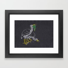 Rodrigues Night Herons Framed Art Print