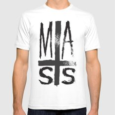 MASS SMALL White Mens Fitted Tee