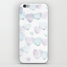 Candy sparkling hearts iPhone & iPod Skin