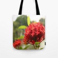 Crimson Focus Tote Bag