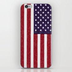 American Flag In Crayon iPhone & iPod Skin