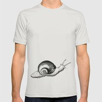 Snail Mens Fitted Tee Silver SMALL