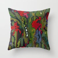 Offering To Xochiquetzal Throw Pillow