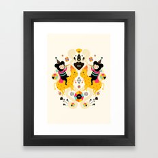 Music is happiness Framed Art Print
