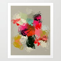 Abstract & Fluid Shapes Art Print