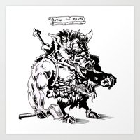 Ontok the Meaty Art Print