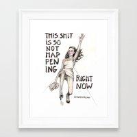 #ModelsFalling 1 Framed Art Print