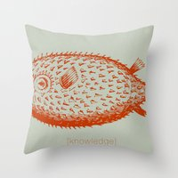 Knowledge Puffs Up Throw Pillow