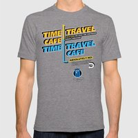 Time Travel Cafe Mens Fitted Tee Tri-Grey SMALL