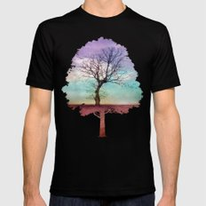 ATMOSPHERIC TREE | Early Morning Black SMALL Mens Fitted Tee