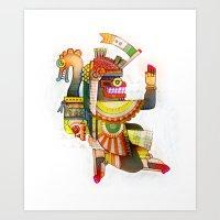 Serpent Bearer Art Print