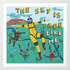 Skydive In The Sky Art Print