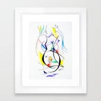 Cuerpo de mujer (estudio) Framed Art Print