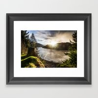 Columbia River Gorge - O… Framed Art Print