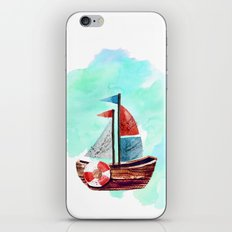 Ship In The Watercolor iPhone & iPod Skin