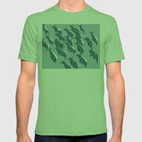defiant buffalo Mens Fitted Tee Grass SMALL