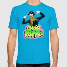 She's Poppin Mens Fitted Tee Teal SMALL