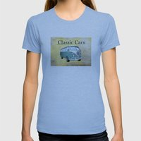 Classic Cars 2 Womens Fitted Tee Athletic Blue SMALL