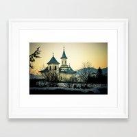 An Orthodox Church near Suceava, Romania Framed Art Print