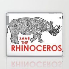 Save the Rhino Laptop & iPad Skin