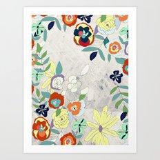 Saturday Florals Art Print