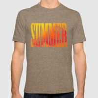 Summer Heat  Mens Fitted Tee Tri-Coffee SMALL