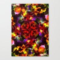 Flower Kaleidoscope  Canvas Print