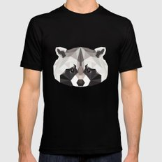 R is for Raccoon SMALL Mens Fitted Tee Black