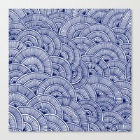 Swirls Blue Canvas Print