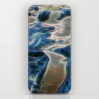 Abstract rock pool and sand on a beach in Queensland iPhone & iPod Skin