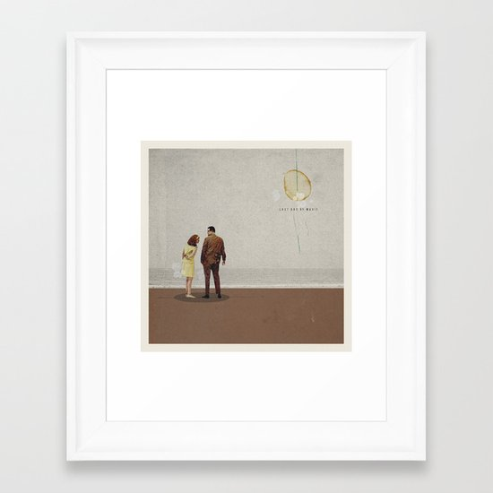 Last Day Of Magic | Collage Framed Art Print