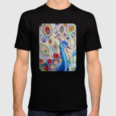 Peacock SMALL Black Mens Fitted Tee