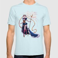Steampunk Pretty Soldier Mens Fitted Tee Light Blue SMALL