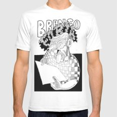 Branco fobia SMALL White Mens Fitted Tee