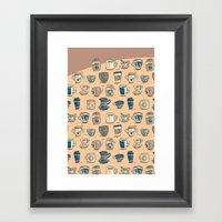 Coffee & Tea & Butts Framed Art Print