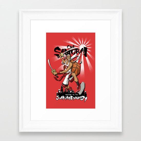 Samurai Jo Framed Art Print