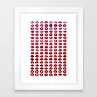 Lips Quote Framed Art Print