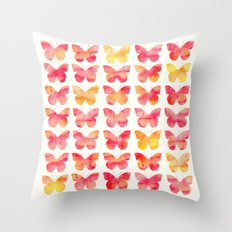 Butterflies Watercolor 1 Throw Pillow