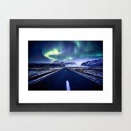 Road To Aurora  Framed Art Print