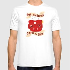 View Master Makes Pictures Come To Life Mens Fitted Tee White SMALL