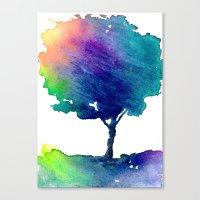 Hue Tree Canvas Print
