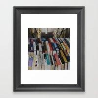 Books On Books Framed Art Print