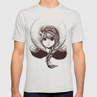 Viking Girl Mens Fitted Tee Silver SMALL