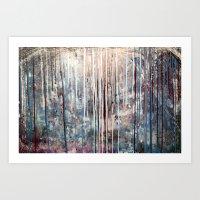 Blue Away Art Print
