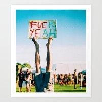 F Yeah Art Print