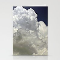 navy cloud Stationery Cards