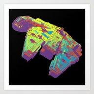 Millennium Falcon Bright… Art Print