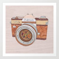 Wood Canon Art Print