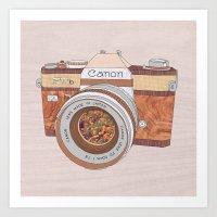 Wood Canon Art Print